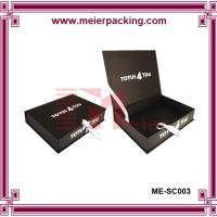China Black clamshell rigid paper box, hinged lid cardboard box for shoes/Clamshell Presentation Box ME-SC003 on sale