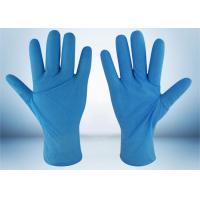 Powder Free Nitrile Examination Gloves 5 MIL Thickness Good Puncture Resistance Manufactures