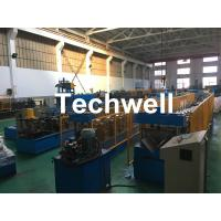 Steel Galvanized Ridge Cap Roll Forming Machine With Hydraulic Cutting For Making Roof Panels Manufactures