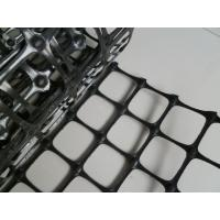 Black PP Biaxial Geogrid High Tensile For Road Construction CE Manufactures