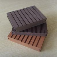 Enviromental WPC Solid Board Decking with Wood Grain for Outdoor Decoration Manufactures