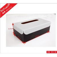 Car / Hotel  Acrylic Holder Stand , Acrylic Tissue Box In Black Color Manufactures
