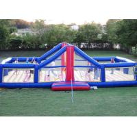 Amusement Park Inflatable Sports Games 0.9mm Bounce House Volleyball Court Manufactures