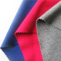 Turquoise Fluro Red Melton Wool Fabric , Wool Blend Coat Fabric For Uniform Manufactures