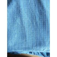 Microfiber Factory Blue Weft Big Grid Car Cleaning Cloth 1.5m Width 320gsm Density Manufactures