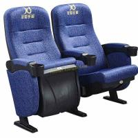 Blue Frabic ABS Theatre Seating Chairs Home Furniture Plastic Shell Anti - Fading Manufactures