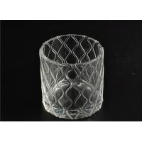 China Modern Soda Lime Glass Tea Light Candle Holders Small Heat Proof on sale