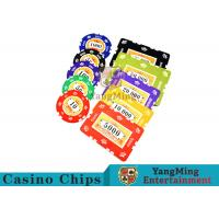 760pcs 12g Sticker Pure Clay Poker Chip Sets With Number And UV logo Manufactures