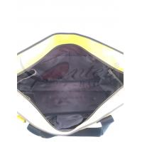 Quality Large Travel Tote Bags With Zipper Yellow Color 300D Polyester Material for sale