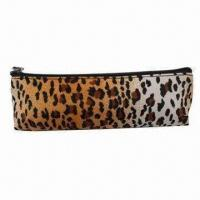Leopard print microfiber fabric cosmetic bag Manufactures