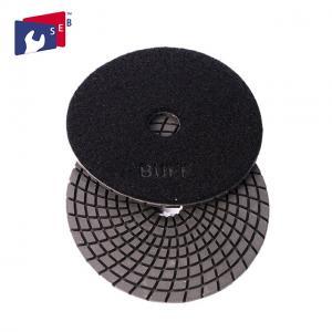 4 Inch / 5 Inch Wet Diamond Polishing Pads , Spiral Velcro Polishing Pads Manufactures
