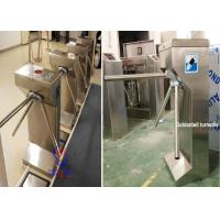 Double RFID Card Reader Tripod Turnstile Gate , entrance control solutions Manufactures