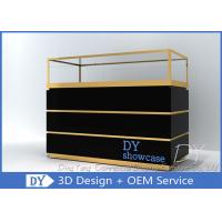 Custom Jewelry Showcases With Large Storage In Black Painting Manufactures