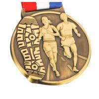 New design custom sports awards soft enamel gold metal medal with ribbon lanyard Manufactures