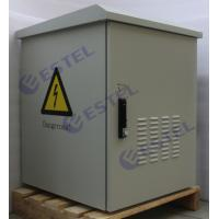15U Waterproof Outdoor Wall Mount Cabinet Enclosure Custom Metal With 2 Fan Cooling Manufactures