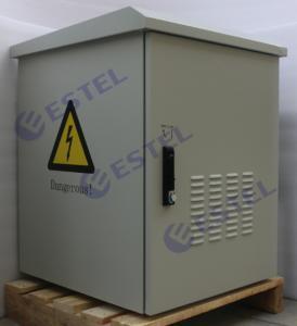 15U Waterproof Outdoor Wall Mount Cabinet Enclosure Custom Metal With 2 Fan Cooling Manufactures