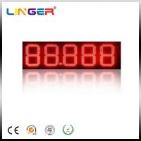 Digit LED Gas Price Sign / Petrol Price Pylon Sign Board With Advertisement Display Manufactures