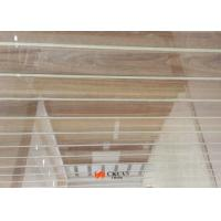 Customized Wall Decoration Wood Grain MDF Board With White Caved Line