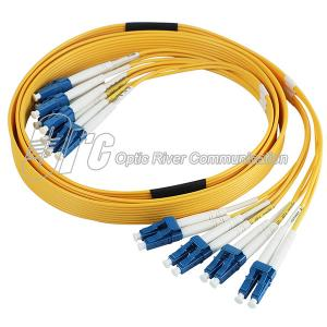China Flat Ribbon cable patch cord 8 cores LC/UPC-LC/UPC SM Duplex on sale