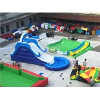China Commercial Giant Pvc Tarpaulin Inflatable Water Slides With Pool Customized on sale