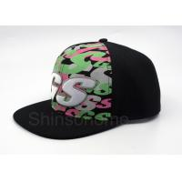 Hip Hop 100% Cotton Printed Baseball Caps 6 Panel Adjustable 56 - 60cm Manufactures