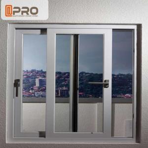 China Energy Saving White Aluminium Sliding Windows With Reflective Glass top hung sliding window aluminium sliding window on sale