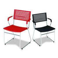 China Cheap Wholesale Stacking Plastic Chair, Dining Chair with Arm, PC PP Chair For Outdoor Use on sale