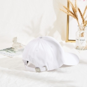 Curve Brim Custom Twill Cotton White Dad Hat 6 Panel Manufactures