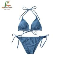 Buy cheap Wholesale OEM Custom Swimsuit Women Beachwear Quick Dry Polyester Fabric from wholesalers
