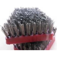 Steel Grit Diamond Abrasive Brush , Frankfurt Stone Polished Abrasive Wire Brush Manufactures