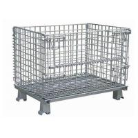 China Hot Dip Galvanized Steel Wire Mesh Storage Cage For Transport 1000 X 800 X 840mm on sale