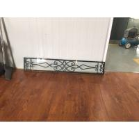 08*48 Wrought Iron And Glass Entry Doors Sandblasting Zinc Coating Manufactures