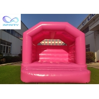 Kids / Baby Pink & White Outdoor Inflatable Bouncer Jumping Castle For Girls/Boys Manufactures