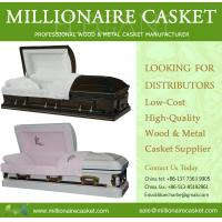 China wood & metal casket on sale