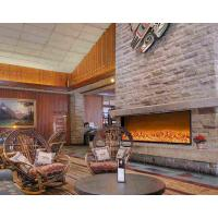 China Wall Plug In Electric Fireplace , Wooden Vintage Electric Fireplace Heaters on sale