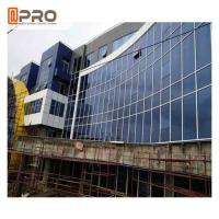 Blue Color Aluminium Glass Curtain Wall For Building Exterior Wall Decoration Manufactures