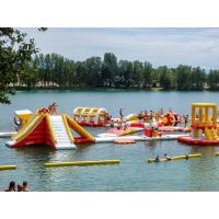Free Customized Design Lake Inflatable Floating Water Park Games for sale