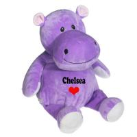 8 Inch Lovely Hippo Animal Plush Toys Promotion Gifts For Holiday Celebration Manufactures
