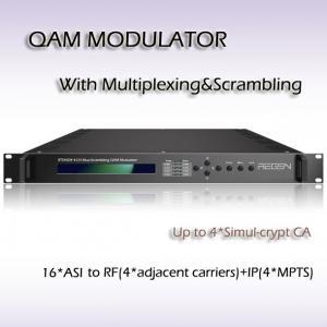 16*DVB-ASI input Four-Channel Mux-Scrambling QAM Modulator RTS45016 Manufactures