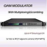 Four-Channel Mux-Scrambling QAM Modulator 16/32/64/128/256QAM RTS45016 Manufactures