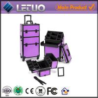 made in China make up beauty cosmetic makeup trolley case new design vanity case Manufactures