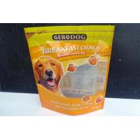 China Bottom Gusset Stand Up Pet Food Plastic Packaging Bag with top resealable ziplock on sale