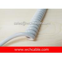 UL Curly Cable, AWM Style UL21534 24AWG 5C FT2 80°C 300V, PP / TPU Manufactures