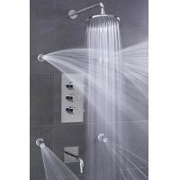 Concealed 3 Way Thermostatic Shower Valve With High / Low Water Pressure Shower Heads for sale
