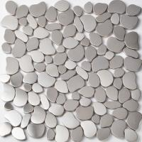 Commercial Pebble Metallic Mosaic Tiles Mosaic Pieces For Shower Floor Manufactures
