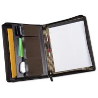 Cutter & Buck American Classic Genuine Leather Mahogany Zippered Padfolio Manufactures