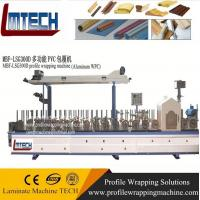 China Profile wrapping machine for solvent based glues and 450 mm maximum foil width on sale
