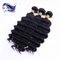 China Deep Weave Remy 7A Hair Extensions For Curly Hair , Brazilian Virgin Remy Hair on sale
