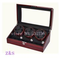 China 6+7 automatic wooden watch winder storage boxes for watch show and display red n black color on sale