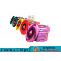 Quality Ceramic Casino Poker Chips , Poker Chips And Cards With Dynamic Textures Design for sale